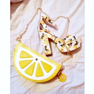 Cute Fruit Lemon Slice Tropical Mini Crossbody Bag